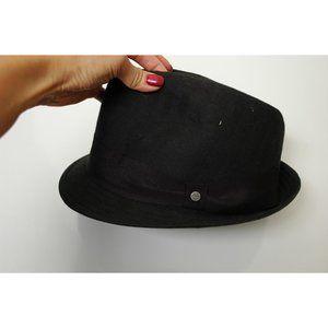 Stetson Herringbone Fedora Hat Black Geometric